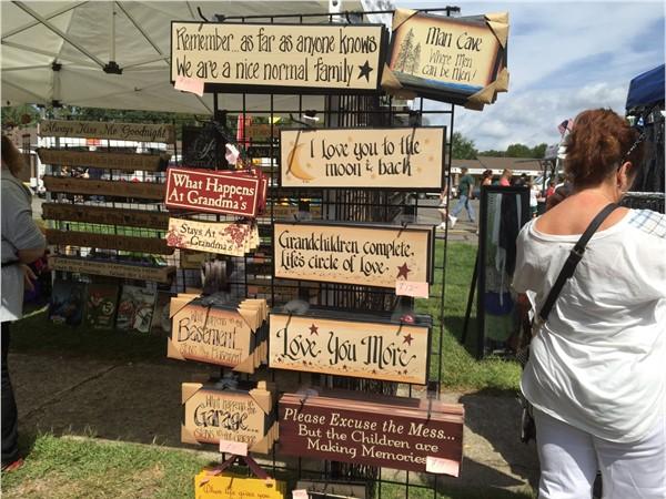 Sign galore at  Nesconset Street Fair