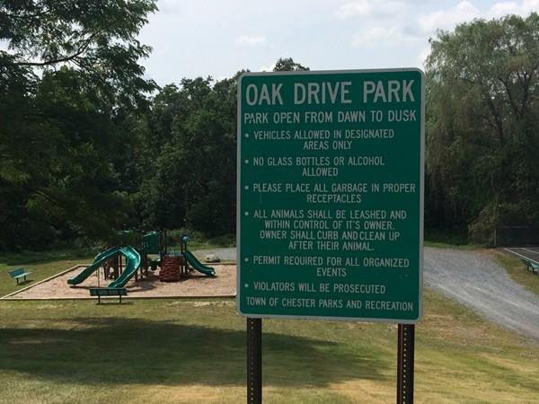 "Oak Drive Park is known as ""The Courts"" in Walton Lake Estates"