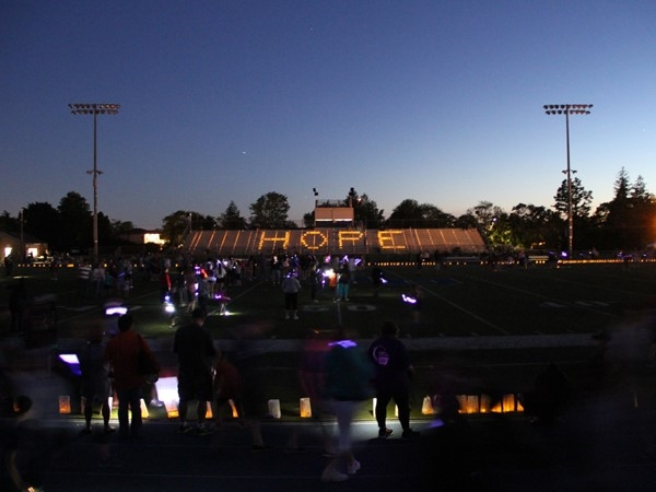 Had a wonderful evening with the family supporting Relay for Life at Oceanside High School