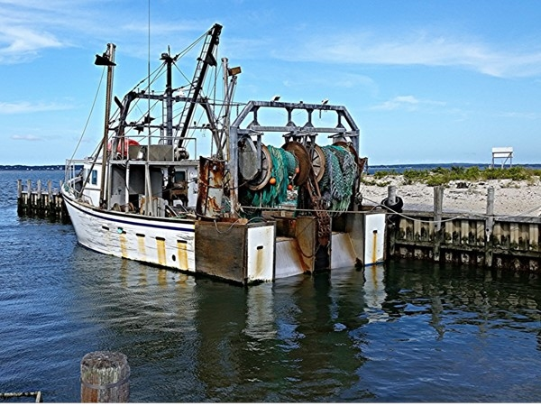 Commercial fishing boat. Shinnecock Inlet