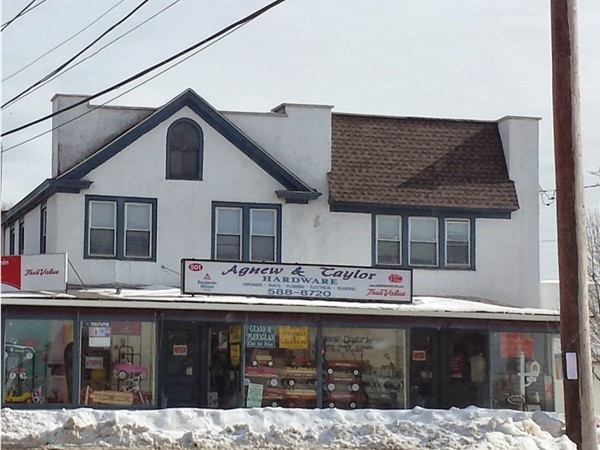 Agnew and Taylor Hardware on the corner of Portion Road and Hawkins Avenue since 1905