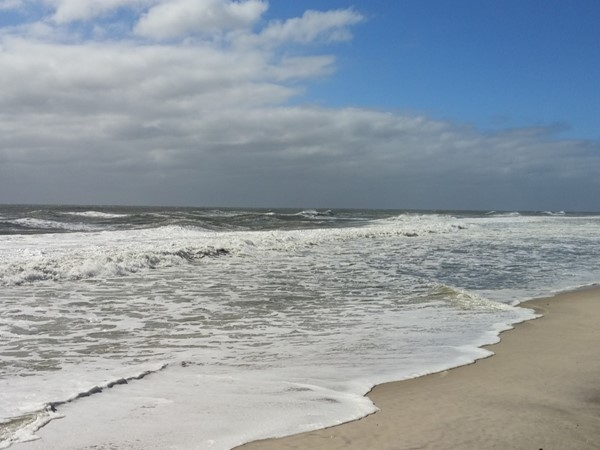 Waves caused by Hurricane Joaquin at Robert Moses Beach