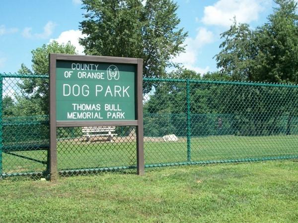 Take your dog to visit Dog Park at Thomas Bull Park
