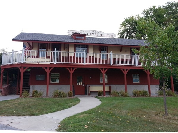 Spencerport Depot and Canal Museum located in Spencerport Village on the historic Erie Canal