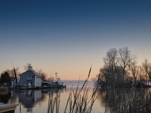 Sunrise at the Brockport Yacht Club, located on the South Shore of Lake Ontario at Sandy Creek