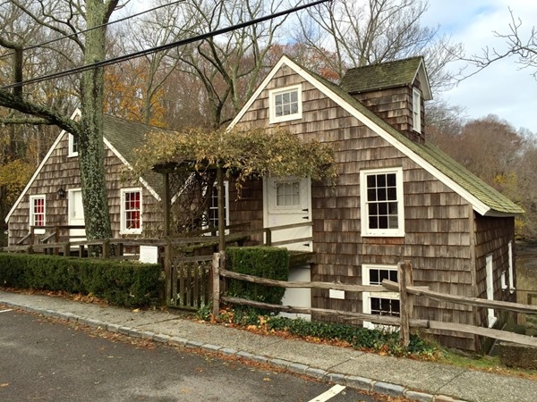 Built in 1999 Stony Brook Grist Mill created the Mill Pond on the Brookhaven-Smithtown boundary