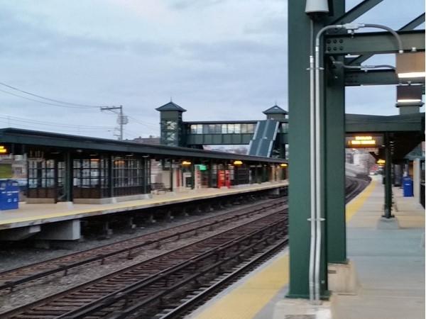 Tarrytown Train Station. Empty platform at 4:00 p.m., NYC bound