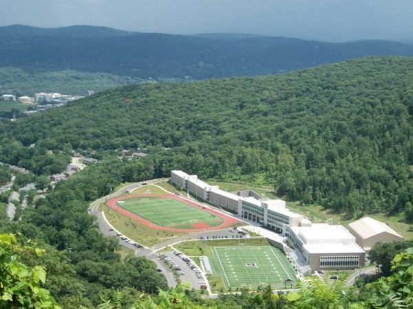West Point view from Route 9W! Stop your car and enjoy!