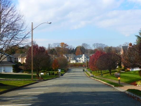 Beautiful, autumn residential street