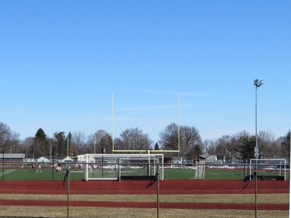 East Rochester all-weather athletic field with lights