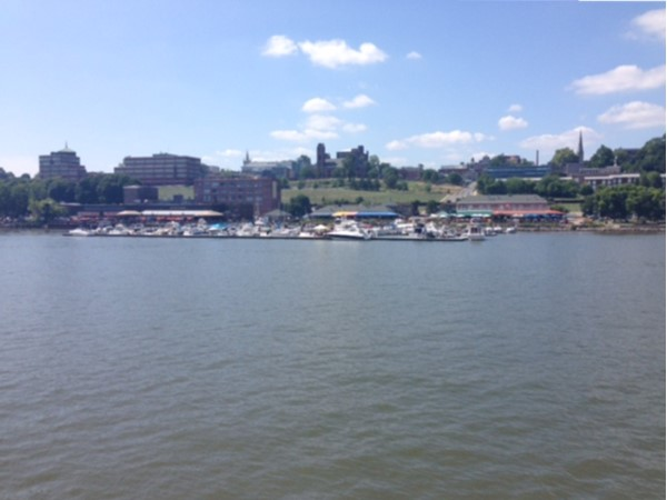 Boaters' view of Newburgh waterfront