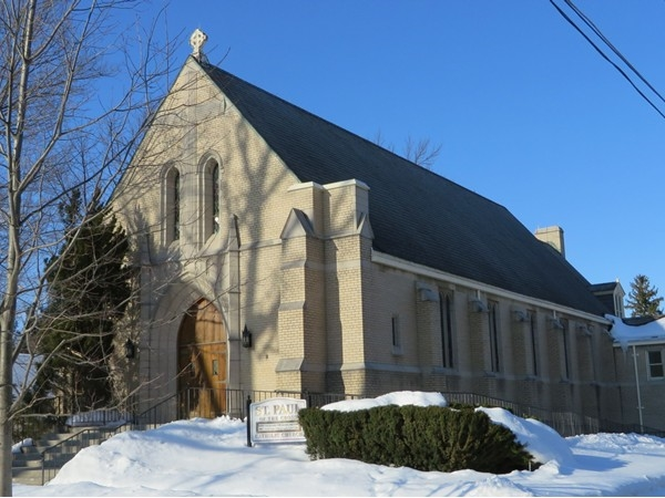 Stone church in the Village of Honeoye Falls