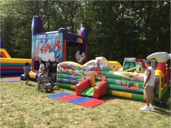 Bounce house at Street Fair