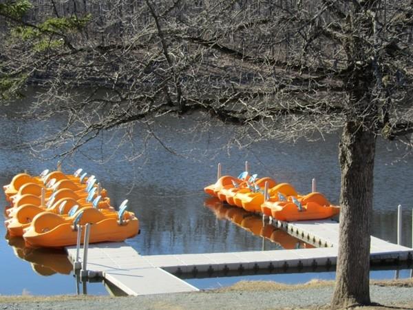 Circleville Park Lake with paddleboats