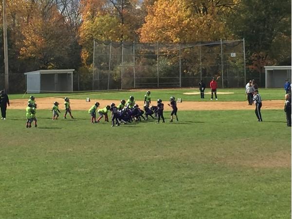 Sunday morning Peewee football at Smith's Clove Park