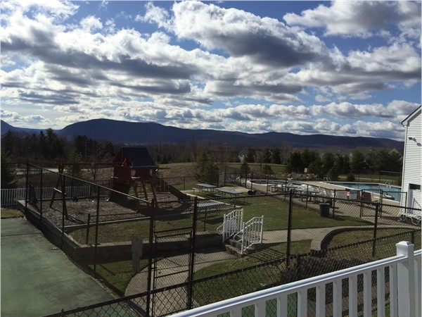 Beautiful mountain view from recreational area