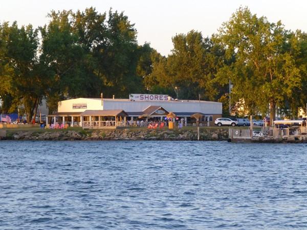 The Shores Restaurant  on Tonwanda Island. Great for dinner or drinks on the river.