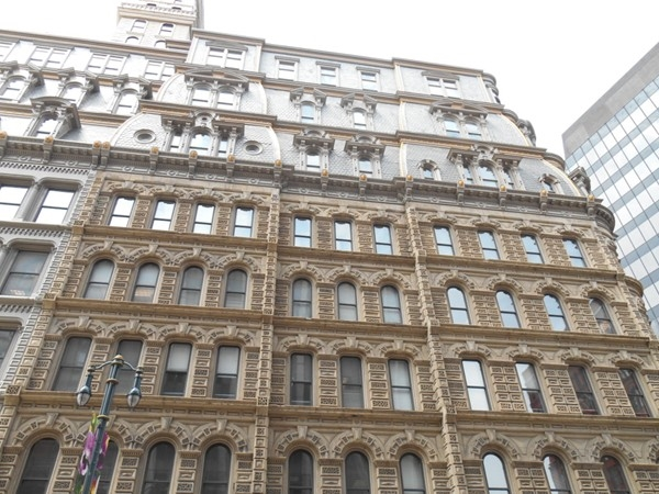 Powers Building- built in the 1860's,. It was the first building in NY to have a passenger elevator