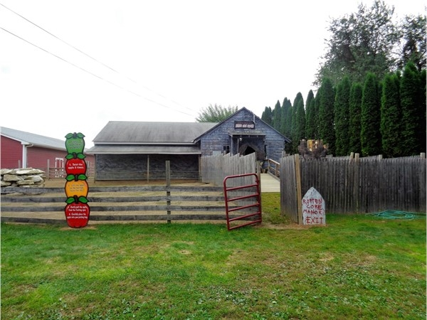 Barton Orchards has a Haunted House with live actors. It is open August through October