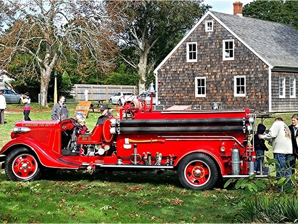 East Hampton Fire Department open house. You can climb and touch all the fire trucks