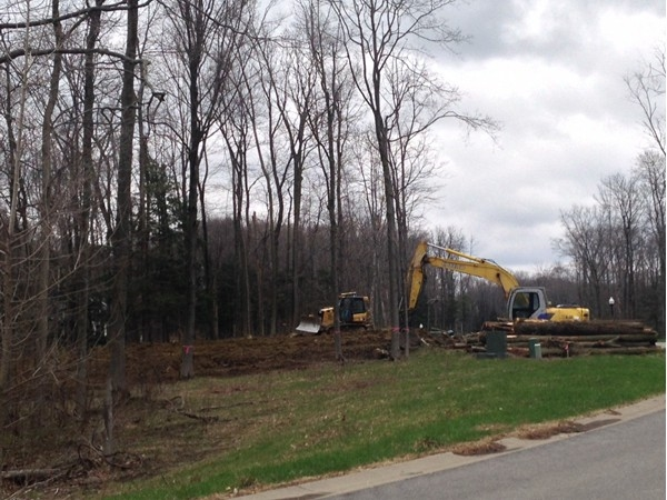 New lots being cleared in Eagle Heights, Orchard Park New York