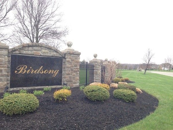 Entrance to Birdsong subdivision