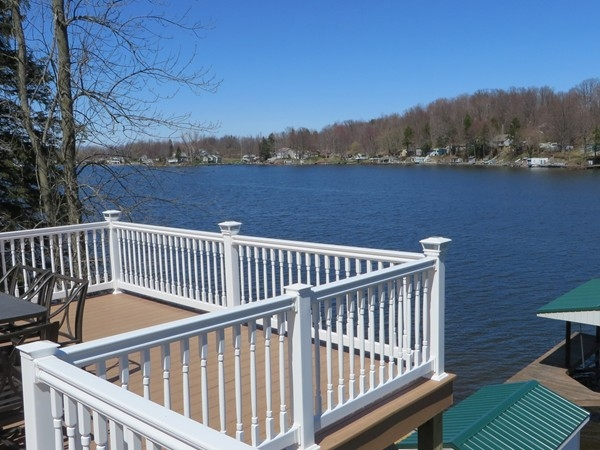 Beautiful view from the deck of a home on Tompkins Point Road on the east side of Port Bay
