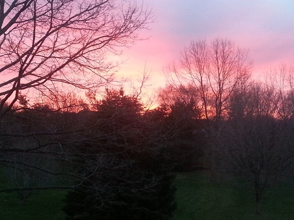 Beautiful sunrise in the Pen-Web area!