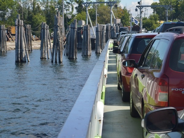 Walk, drive or ride a bike on the ferry to Vermont. So quick and easy.  Convenience at it's best!