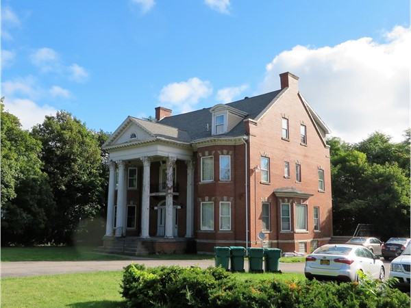 Stately all-brick colonial mansion on Lake Avenue in Rochester