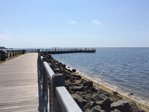 The Boardwalk which leads to fishing piers