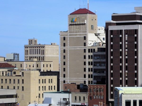 Downtown Rochester buildings from the South Avenue garage rooftop