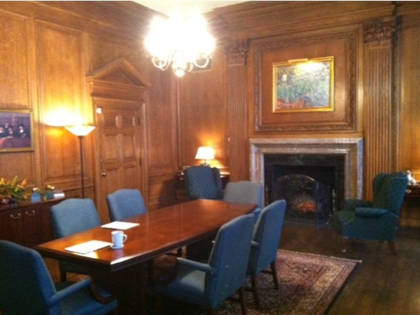 Board Room in the Hiriam Sibley Building at the corner of East Avenue and Alexander Street