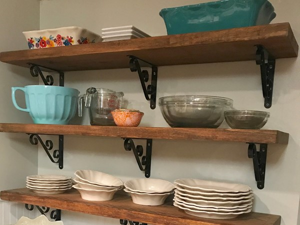 Kitchen makeover near the bayou in Pass Christian.. from galley kitchen to farmhouse