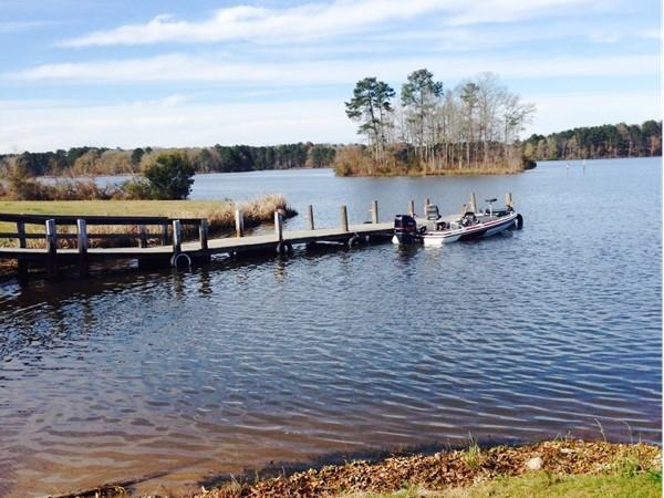 Saturday fishing at Lake Lincoln State Park