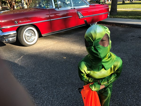Classic Cars and Halloween costumes