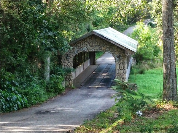 Beautiful covered bridge located in Stonebridge Subdivision