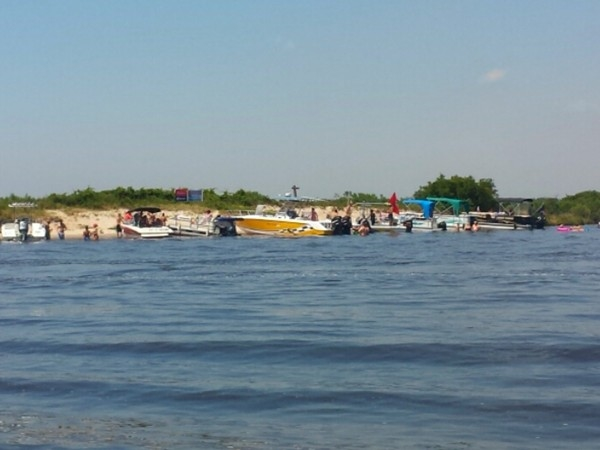Sandbar near Big Lake. This is a great area for a boating or fishing hobby
