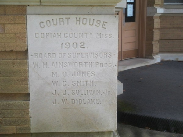 Historic court house dated 1902 in the center of the square in Hazlehurst
