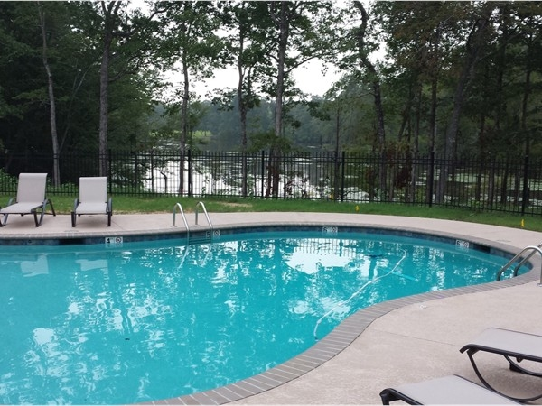Backwater Community pool overlooking the 50+ acre lake