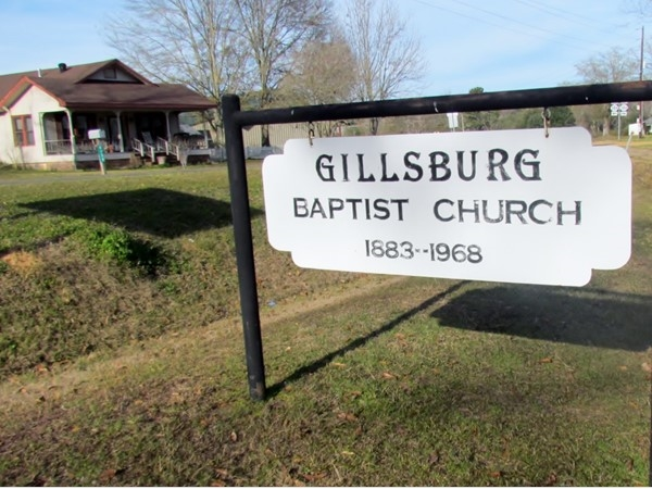 Gillsburg Baptist Church founded in 1883