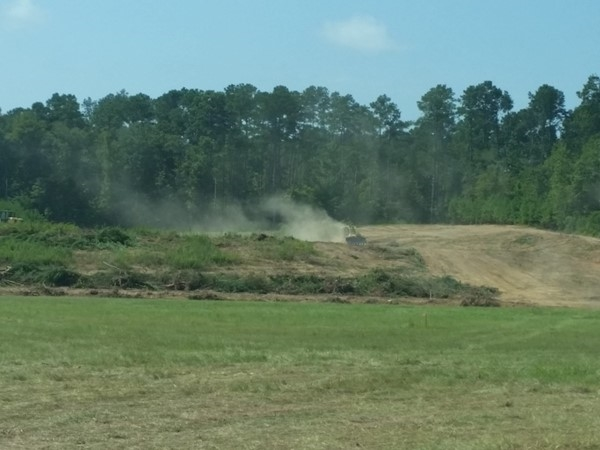 They are finally starting on the dirt work on our new movie theater