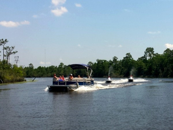 Boating on the Biloxi River