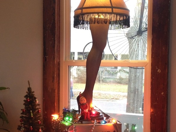 While Santa was in town he stopped at the house from A Christmas Story