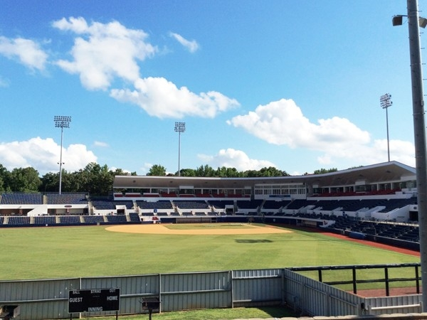 Swayze Field, home of the Ole Miss Rebels baseball team, located on the campus of U of MIssissippi