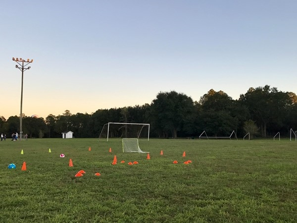 Tuesday night Soccer practices! South Mississippi Soccer Club