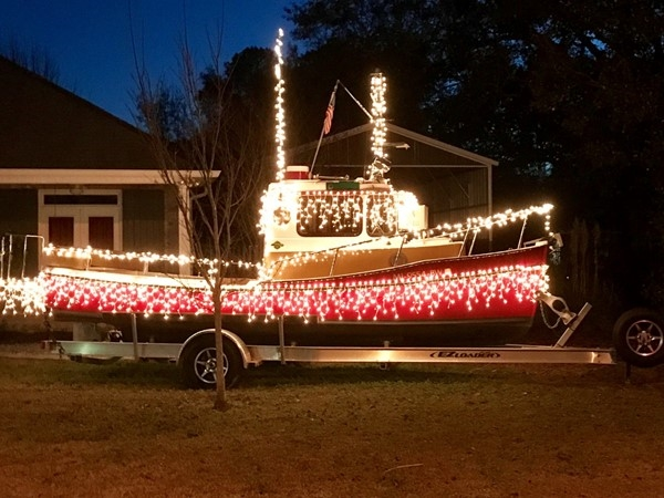 I'm just a Christmasy boat