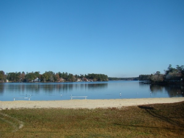 Lake with roped off swimming area, beach for sunning or volley ball, Wow amazing fun