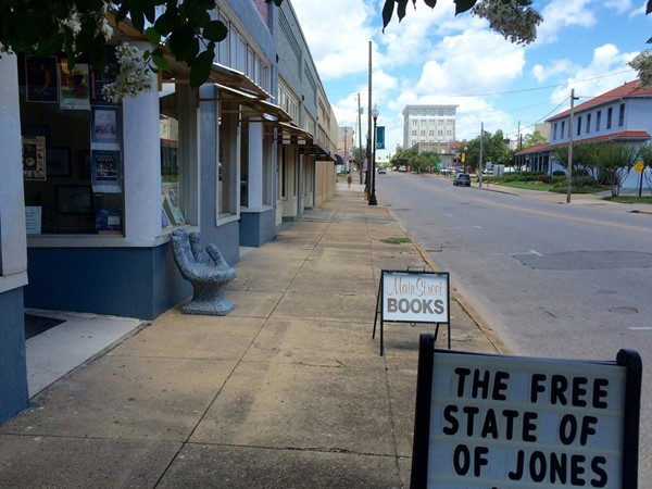 Downtown Hattiesburg is home to charming independent businesses such as Main Street Book Store
