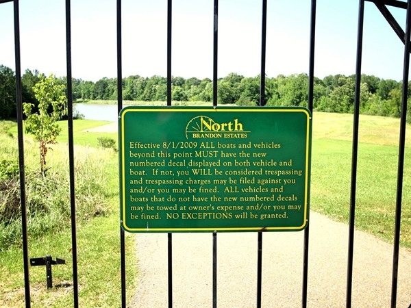 North Brandon Shores residents must have a key to the lake gate and a vehicle tag to fish